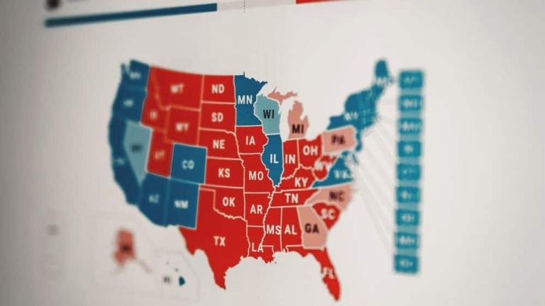 Carte élections américaines 2020