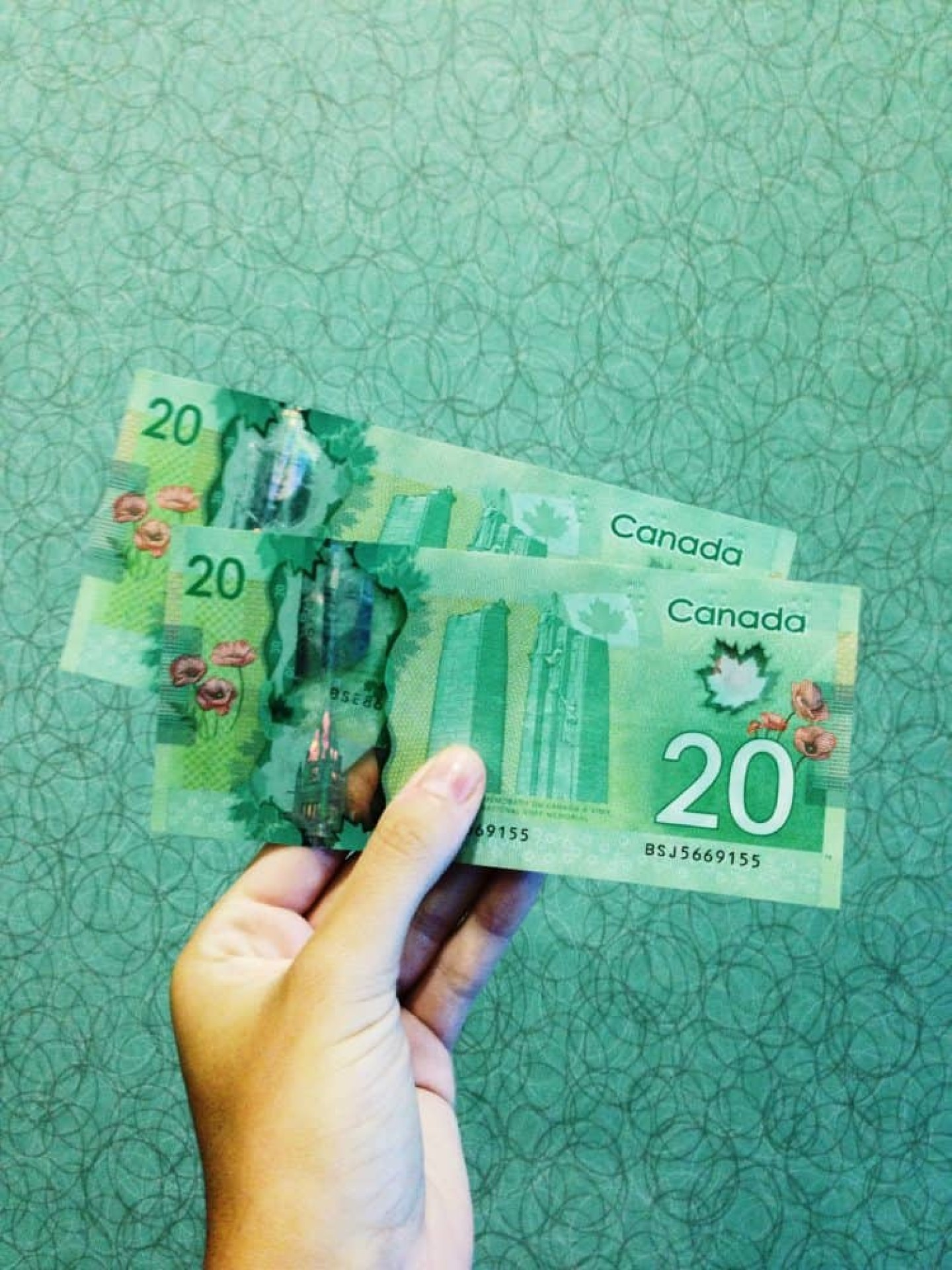 Billets de 20 dollars canadiens